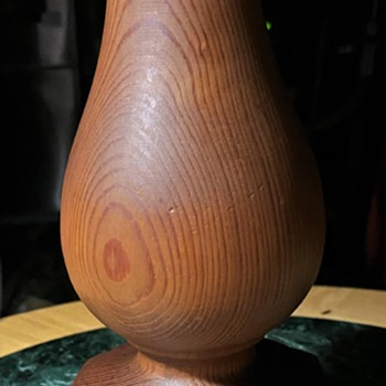 Carved Wooden Pear Finial - Tools and Hardware