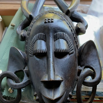 Carved African Tribal Mask Identification - Fine Art