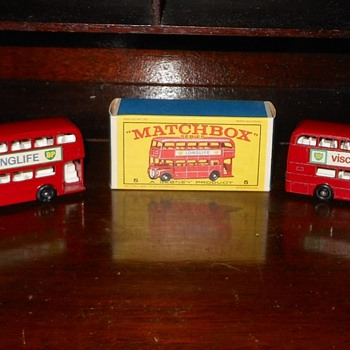 Matchbox #5 London Bus  - Model Cars