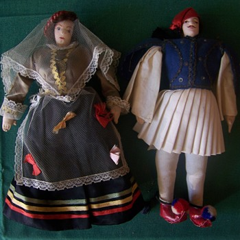 Vintage Cloth Dolls Unknown mfg. or Age - Dolls