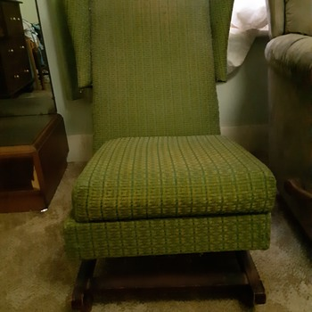 upholstered armless rocker glider chair - Furniture