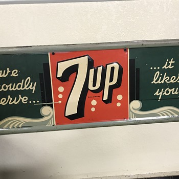 Two Great old 7Up signs  - Advertising