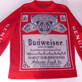 My Budweiser Sweater- Its The REAL Thing! A GENUINE! Not the COPY!