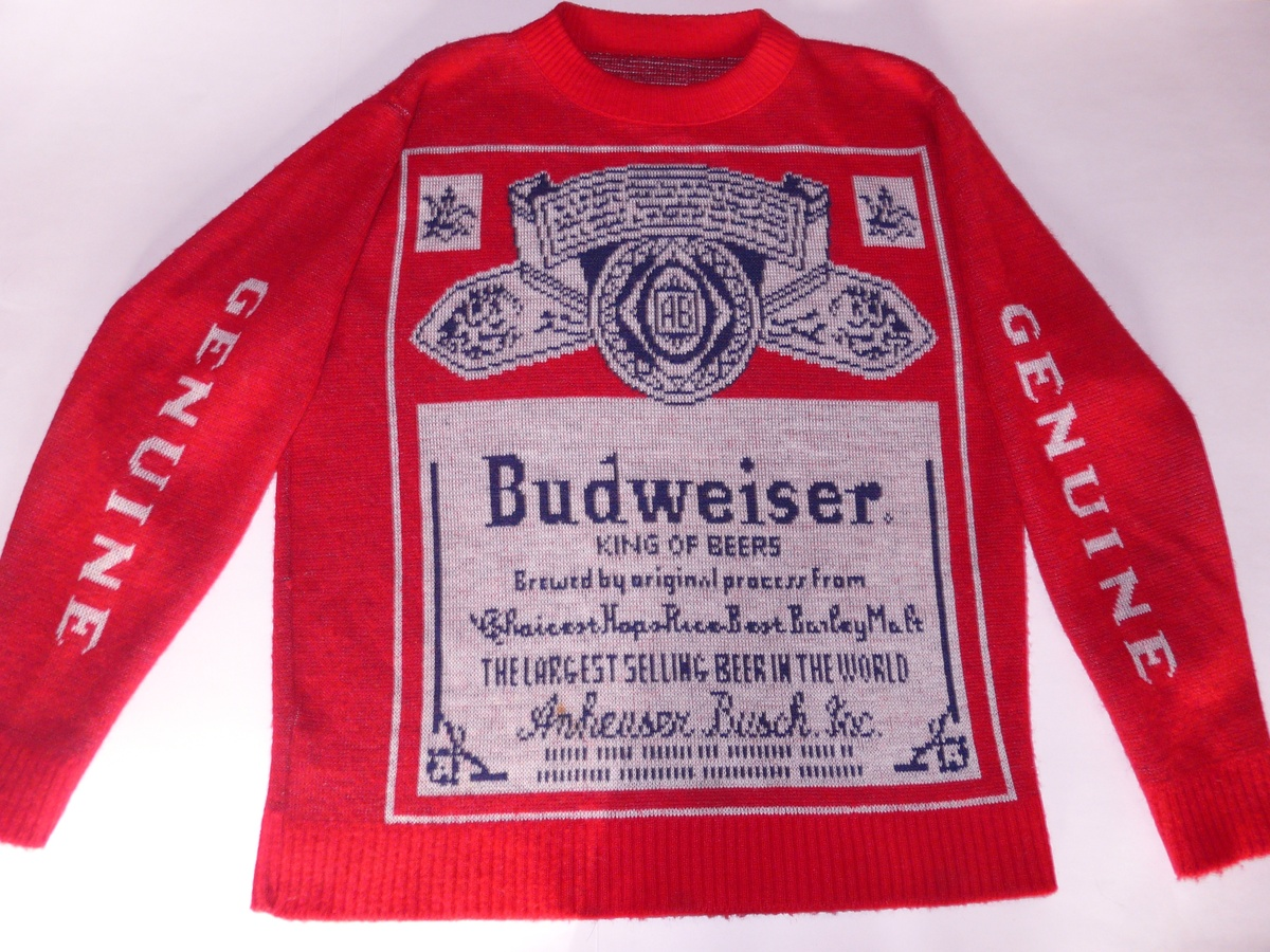 My Budweiser Sweater- Its The REAL Thing! A GENUINE! Not the COPY ...