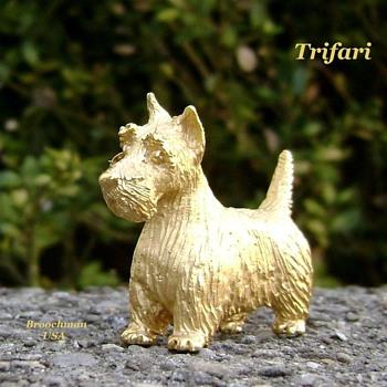 Trifari Scottish Terrier  - Animals