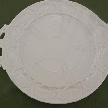 Belleek Shell Bread Plate - 3rd mark - Pottery