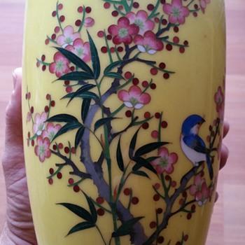 Mid Century Japanese Cloisonne Vases - Asian