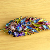 Vintage Hattie Carnegie Jewelry Brooch Pin Costume Signed Multi Color