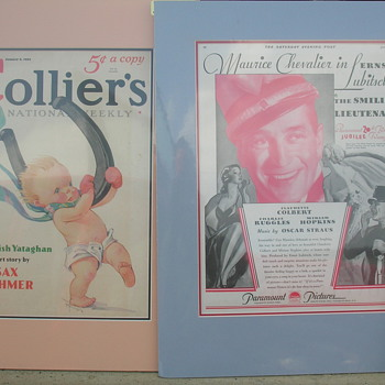 Old Magazine covers Sat Evening Post and Colliers - Signs