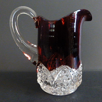 Duncan EAPG Ruby flash pitcher - Glassware