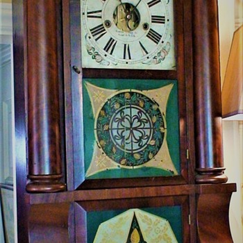 Empire Period Forestville, CT Triple Decker Sleigh-Front Clock Circa 1837