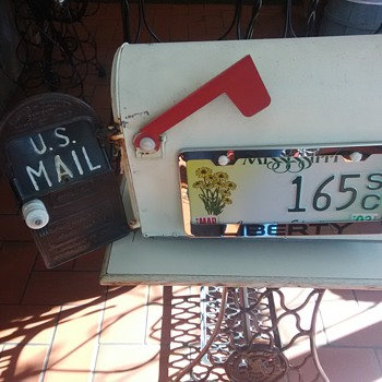 Antique 1899 Cast Iron Door Mailbox - Classic Cars