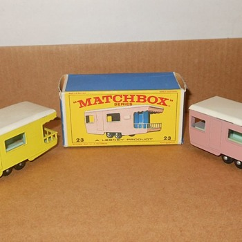 Much More Monday Matchbox Monotony MB 23 Trailer Caravan - Model Cars