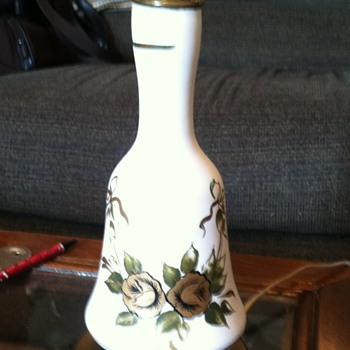 Bell Shaped Pottery Lamp Brass Base?