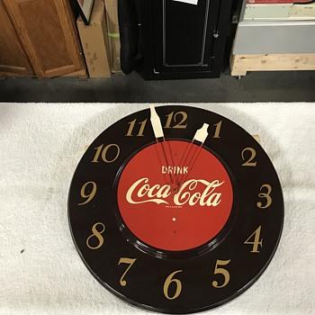 Original Coca Cola clock  - Coca-Cola