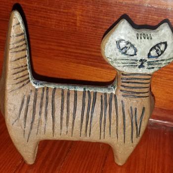 Vintage Hand Made Cat - Folk Art