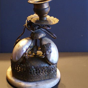 Antique Candel Holder with  Bell  Alarm ?????? - Lamps