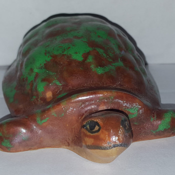 Weller Pottery Coppertone Turtle - Pottery