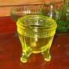 L. E. Smith Glass Co Jardinere Bowl Vaseline Glass