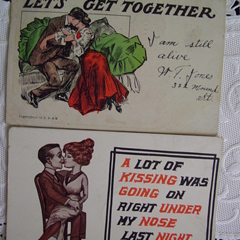 KUTE KISSING CARDS, 1906 and c.1912 - Postcards