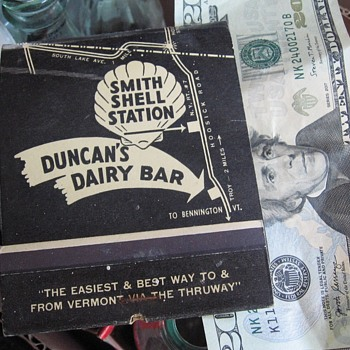 Large Matchbook Troy N.Y. Shell Gas Station & Dairy Bar - Tobacciana