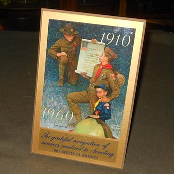 Boy Scout 50 Year Anniversary Plaque - Sporting Goods