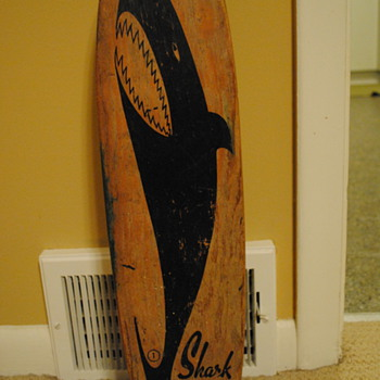 "1960's Nash Shark ""Sidewalk Surfboard"" - Sporting Goods"