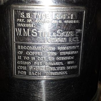w.m still & sons coffee machine