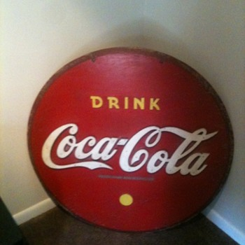 Old Wooden Coca Cola sign