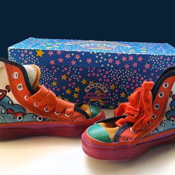 1960s Peter Max Sneakers with box - Toddler Size! - Fine Art