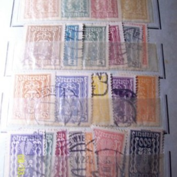 Weird looking stamps from old album - Stamps