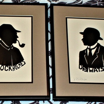 Silhouettes Of Sherlock Holmes And Dr. Watson By J. Phillips - Fine Art