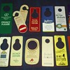 an assortment of hotel room DO NOT DISTURB signs