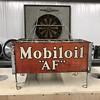 1930's Gargoyle Mobiloil AF Filpruf bottle rack.
