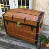Antique Oak slat Trunk Excelsior