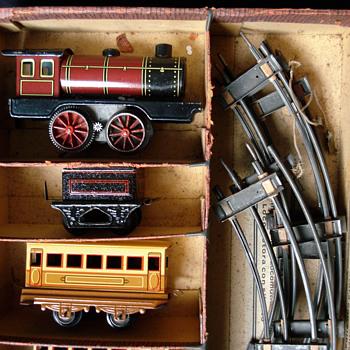 Johann Distler Tin Electric Train-set O gauge - Model Trains
