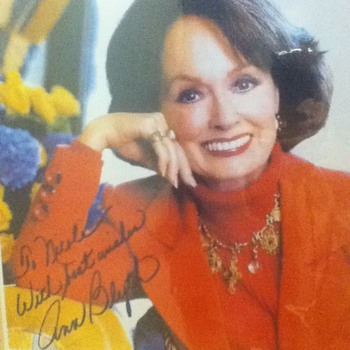 Signed Ann Blyth Photo - Movies