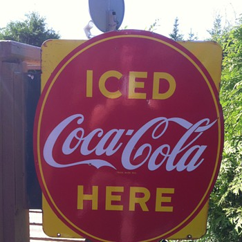 Iced Coca-Cola Sign - Signs