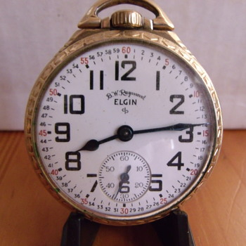 "1951 Elgin ""B W Raymond"" Railroad approved Pocket Watch"