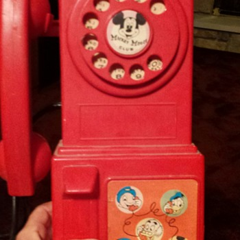 Mickey Mouse Club Phone with record player - Toys