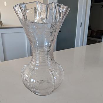 Etched depression glass vase...? - Glassware