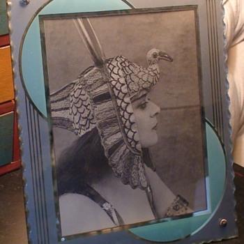 Art Deco Glass Picture Frame - Art Deco