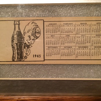 1945 coca cola calendar