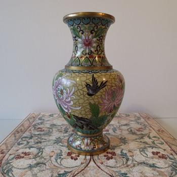 Chinese Cloisonné Vase - Asian