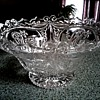 Hofbauer W. Germany Lead Crystal Dragon Bowl /Circa 1950's-60's