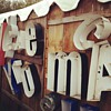Metal letter signs