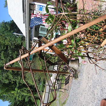 OLD Wooden Flail for Threshing Grain + 2 Old  Sickles - Tools and Hardware