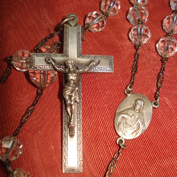 Old crystal rosary