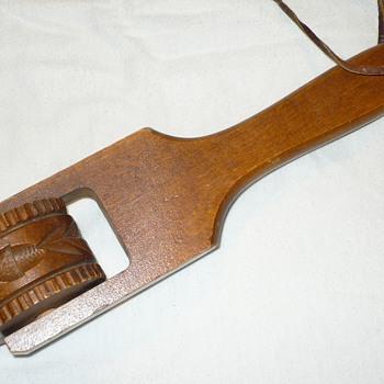 Vintage Wood Springerle Rolling Pin