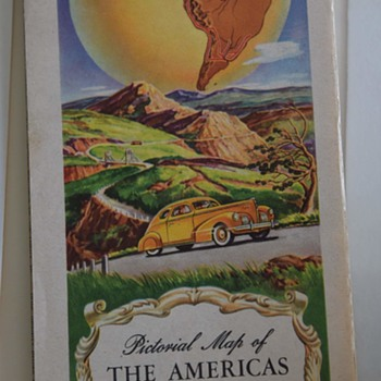 1940s Standard Oil Map of the Americas Featuring the Pan-American Highway - Paper